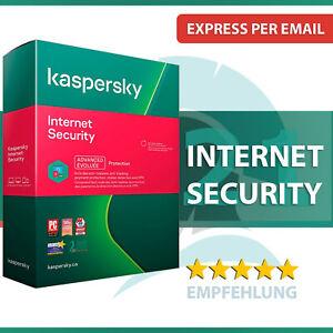 Kaspersky Internet Security 2021 - alle Versionen - 1 oder 2 Jahre - Download