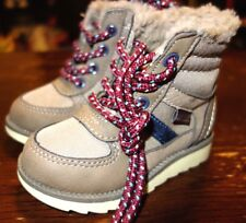 OshKosh B'gosh Toddler Boy's Hunter Beige Winter Boots Shoes Size 5