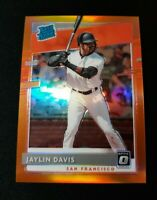 D82 Jaylin Davis 2020 Donruss Optic Rated Rookie Orange Prizm 100/100 Giants RC