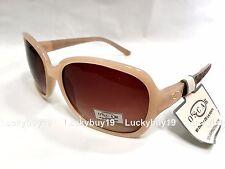 NWT O by OSCAR de la Renta OSS1267 Beige Brown Sunglasses Women Gift /105 / NEW
