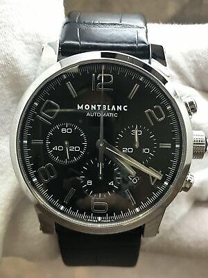 Montblanc Timewalker Chronograph 7069 Black Dial Automatic  Men's Watch
