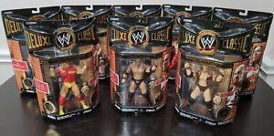 WWE WWF Deluxe Classic Superstars Lot of 8 Action Figures Hulk Hogan Rock [NEW}