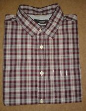 Duffer of St. George Burgundy Checkered Shirt - Small