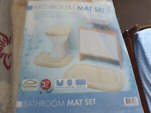 3 Piece Bath & Pedestal Mat Bath Seat Cover Set