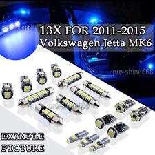 13x Canbus Blue LED Interior Light For 2011 - 2015 VW Volkswagen Jetta MK6 PL