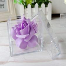 12PCS CLEAR PVC Boxes Base Wedding Party  Candy Favor Square Favour  5*5*5CM