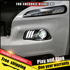 For Jeep Cherokee Headlight assembly Bi-Xenon Lens Double Beam HID KIT 2016-2017