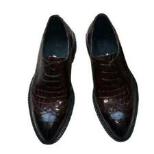 Mens Pointy Toe Work Carved Casual Low Top Real Leather Business Leisure Shoes L