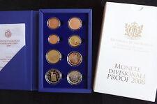 2008 SAN MARINO OFFICIAL EUROSET - PROOF IN BOX - COA 8 COINS 1 CENT- €2 EURO