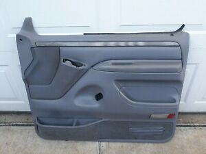 1994 Ford Truck F-150 F-250 F-350 XLT Interior Door Panel, passenger side, gray