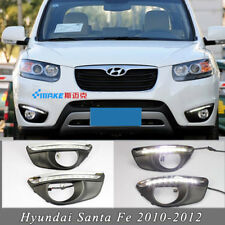 for Hyundai Santa Fe 2010-2012 New LED Daytime Running Lights DRL Fog Lamp