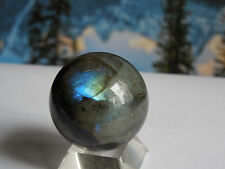 37mm LABRADORITE SPHERE (SPECTROLITE)  77g :Madagascar Metaphysical: Reiki   #33
