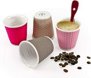 Les Artistes 4 Cups Tea Coffee Silicone 100ml Multicoloured Microwavable LA0791