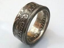 Münzring 50 centavos USA Philipinen 1944 - 1945 Silber 750er Größe 58 / 8 mm