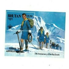 Bhutan 1986 563 - Boy Scouts - Girl Guide Inverted Overprint S/S - MNH