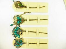 one piece blue Victorian vintage style hair pick hair pin