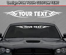 Design #106 Custom Windshield Tribal Vinyl Graphic Rear Window Sticker Decal Car