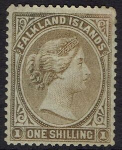 FALKLAND ISLANDS 1878 QV 1/- NO WMK