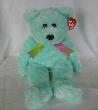 2002 The Beanie Buddy Collection Sherbet Turquoise Bear, Retired.
