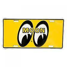 MOONEYES LOGO YELLOW LICENSE PLATE MG108