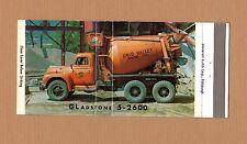 Full Length CONCRETE Cement Truck OHIO VALLEY SAND WVA Vintage Photo Matchbook