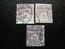 DANEMARK - timbre yvert et tellier n° 52 x3 obl (A9) denmark