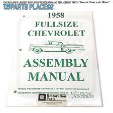 1958-58 Chevrolet Impala Assembly Manual Each