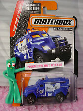 2015 Matchbox #65 S.W.A.T. TRUCK✰Blue Police;SWAT ✰ MBX HEROIC RESCUE