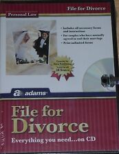 Brand New Sealed Adams File For Divorce Personal Law All 50 States on CD ALC601