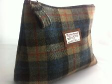 Harris tweed blue wash bag shave bag toiletry bag groomsmen man mens gift