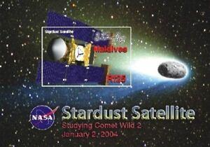 Maldives - Space - Giotto Comet Probe Stamp - Souvenir Sheet MNH
