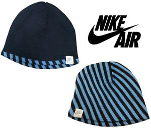 Nike Womens Reversible Running Beanie Winter Woolly Hat   Navy