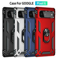 For Google Pixel 6 / 6 Pro Shockproof Armor 360 Rotation Ring Stand Case Cover