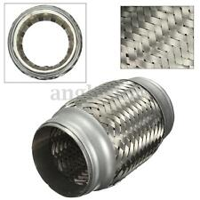 2.5''x 5'' Stainless Steel Exhaust Pipe Double Braided Flex Connector Piping US