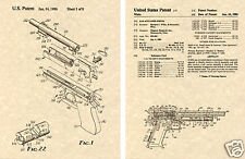US PATENT of DESERT EAGLE Gun Art Print READY TO FRAME!!!! Magnum 357 45