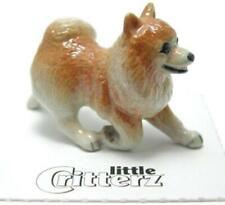 More details for little critterz miniature porcelain animal figure pomeranian dog