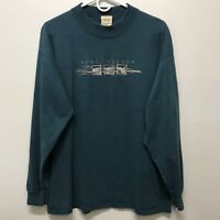 5d7329f6 Vintage Mens Large Shirt Bend Oregon Teal 90's Souvenir Embroidered USA  Sutton L