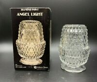 Vintage Indiana Glass Diamond Point Fairy Light Angel Lamp with Original  Box
