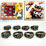 Anime Hitman Reborn Vongola Vintage Metal Finger Ring Cosplay Jewelry 8pc/set