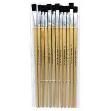 """Brushes - Easel Flat - 1/2"""" - Bristle - 12 Ct"""