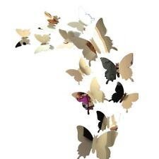 12 x 3D Set Schmetterlinge Wandtattoo Deko Aufkleber Spiegel Hochzeit Sticker
