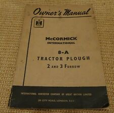 mccormick 8-A Tractor Plough Owner's Manual