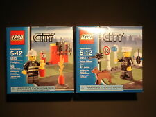 LEGO City Sets 5612 Police Officer and 5613 Fire Fighter - NIP