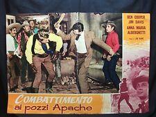 FOTOBUSTA CINEMA - COMBATTIMENTO AI POZZI APACHE - BEN COOPER - 1957 - WESTERN