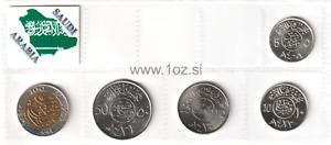 SAUDI ARABIA SET 1988 / 2010 - 5 coins ( 5, 10, 25, 50, 100 HALALAH ) UNC
