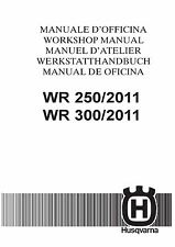 Husqvarna workshop service manual 2011 WR 250 & WR 300