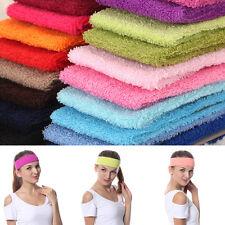 Fashion Cotton Soft Stretch Yoga Softball Sports Wrap Sweatband Head Hair Band