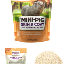 Manna Pro Mini Pig Skin and Coat Supplements | Provides Nutrients to Promote .
