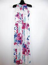 Women's Vtg Retro 90s Linen Floral Print Boho Hippy Romper Jumpsuit sz L/XL BI5