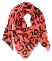 Aeropostale Womens Graffiti Handkerchief Scarf, Orange, Classic (57 To 59 in.)